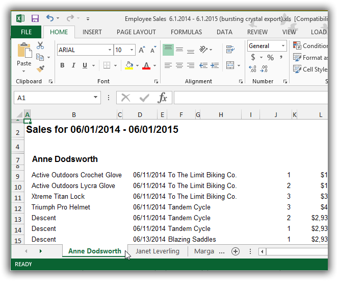 Excel simple export
